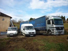 Burg Removals nos camions